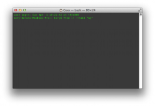 Terminal 101: Using the Find Command