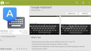 New Google keyboard SMS in Hangout