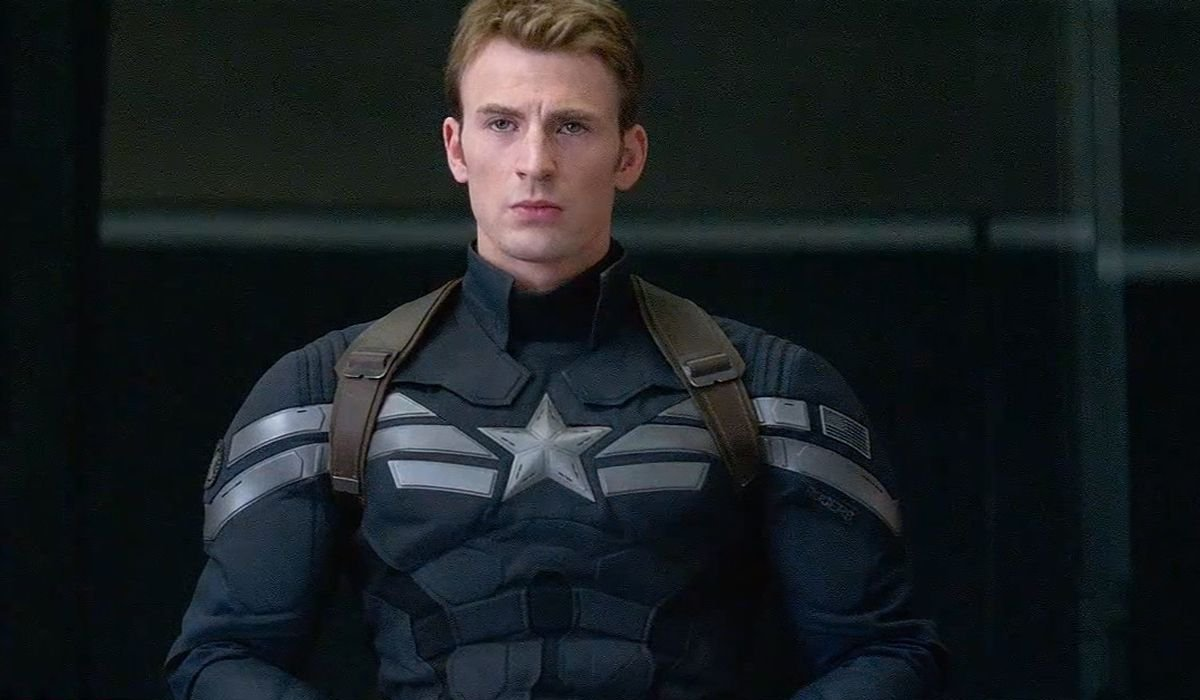 Captain America: The Winter Soldier Chris Evans wearing the SHIELD costume