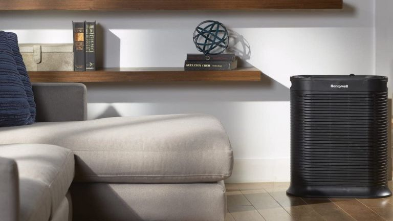 Honeywell HPA300 True HEPA Air Purifier in living room
