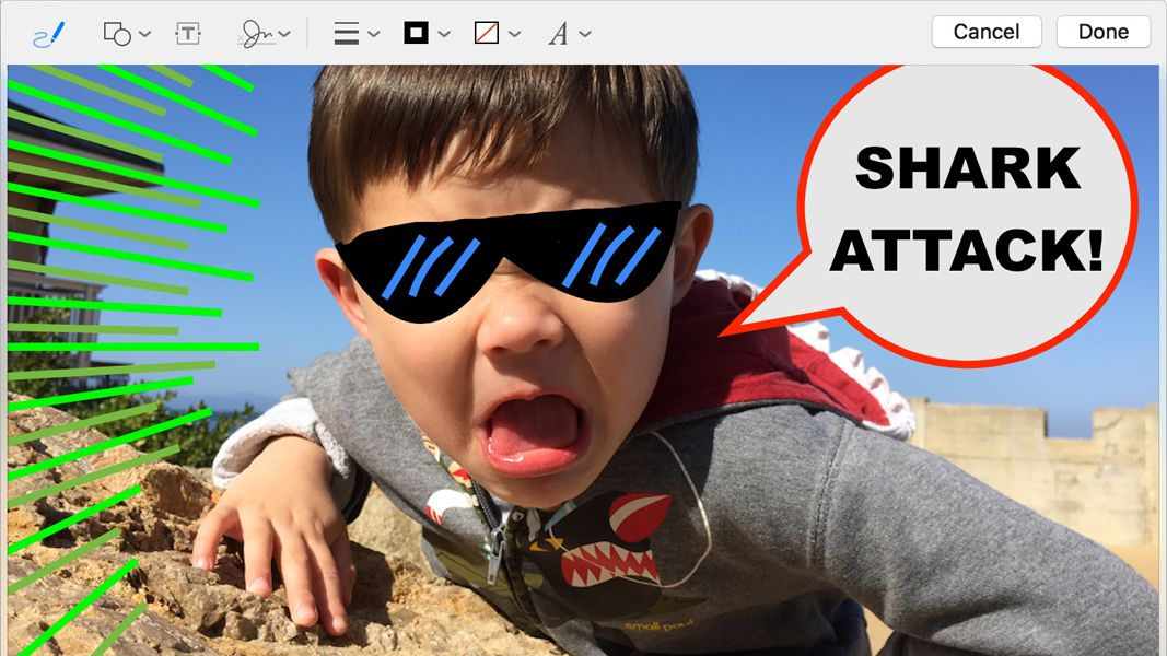 Apple Mail: How to annotate images and PDFs