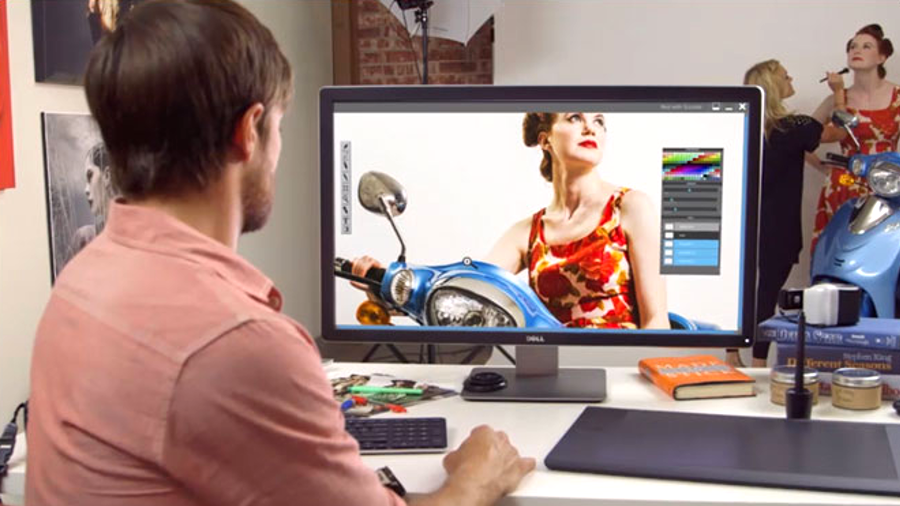 dell outs professional 4k monitor the size of a living room tv techradar
