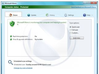 Is this the first screenshot of Microsoft's Morro antivirus?