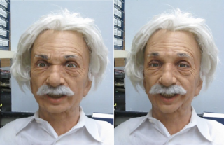 Einstein android robot mimicry