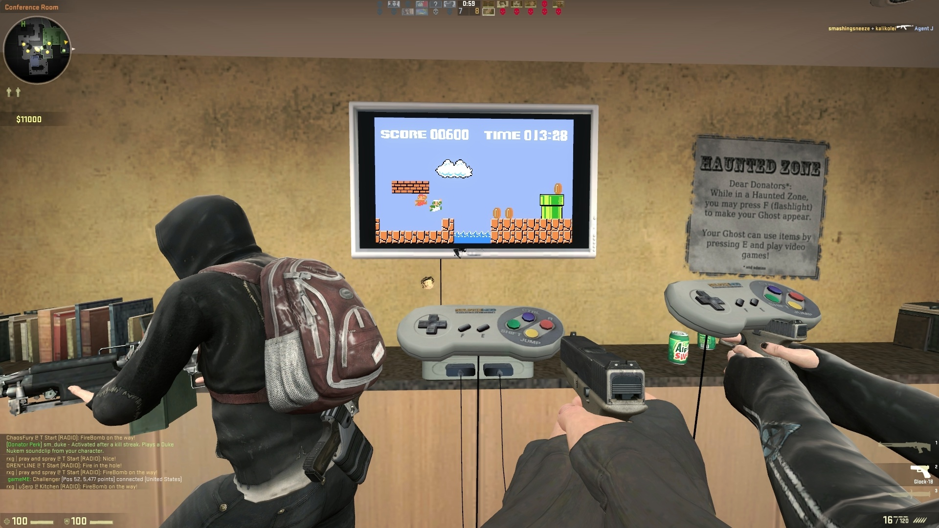 Playable console with
