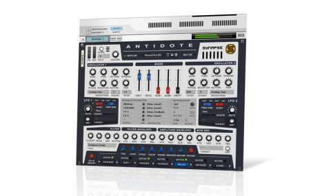 Antidote's sound starts with a pair of oscillators - or rather oscillator banks