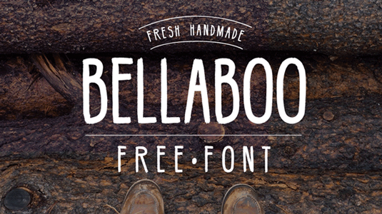 Free handwriting fonts: Bellaboo
