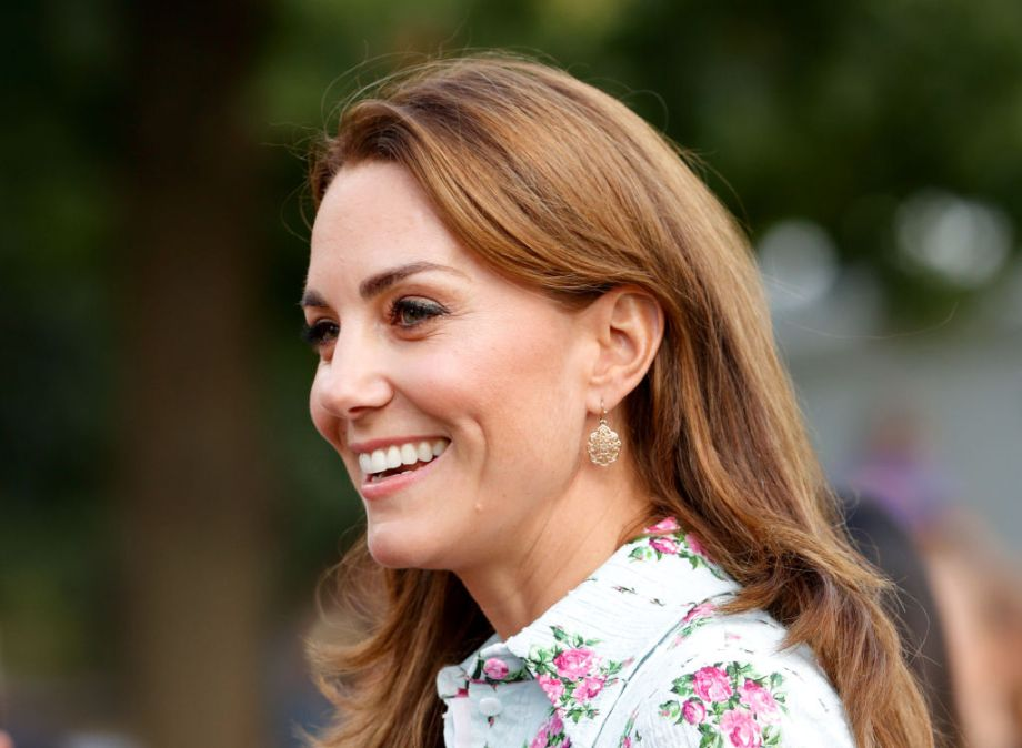 The Duchess of Cambridge looked chic in a polka dot blouse during surprise visit