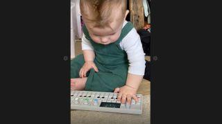 Grimes' baby plays OP-1