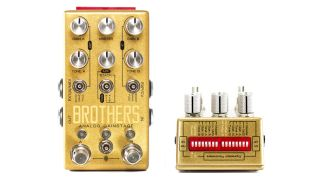 Six boost, drive or fuzz circuits, routed in 33 ways.