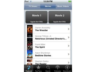 iPhones to allow movie downloads from the handset?