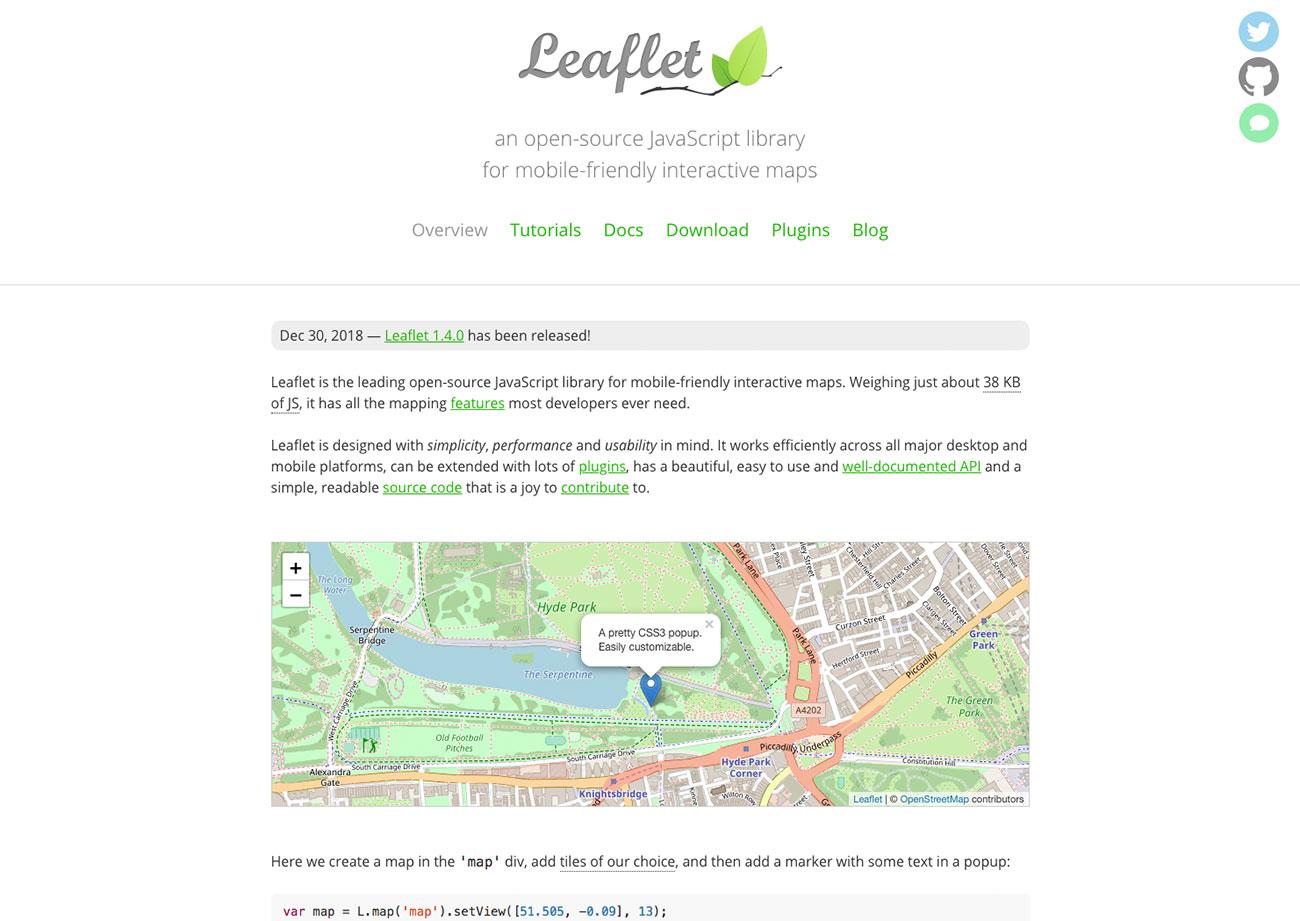 Dataviz tools: Leaflet