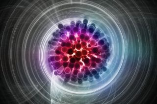 abstract illustration of a subatomic particle