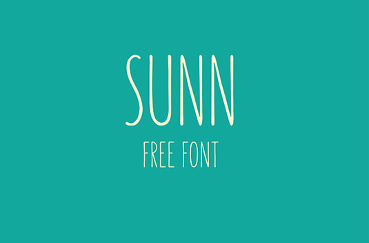 Font of the day: Sunn