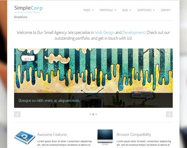 Drupal themes - SimpleCorp