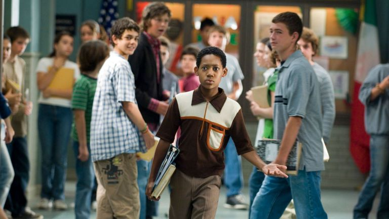 """Everybody Hates Sausage""--Chris (Tyler James Williams) at the predominantly white middle school, Corleone Junior High in the fiercely Italian neighborhood of South Shore, in EVERYBODY HATES CHRIS on UPN."