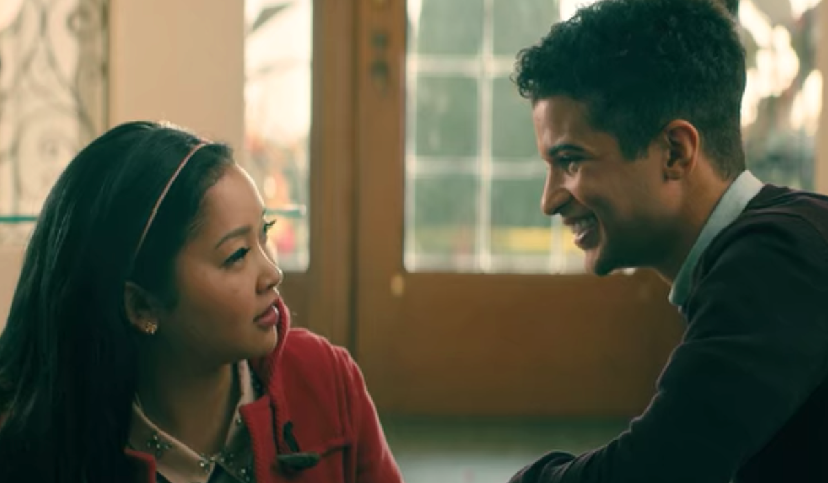 Lana Condor and Jordan Fisher in All the Boys: P.S. I Love You