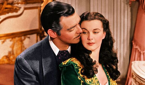 Gone With The Wind Clark Gable Vivien Leigh Rhett and Scarlett cozy up