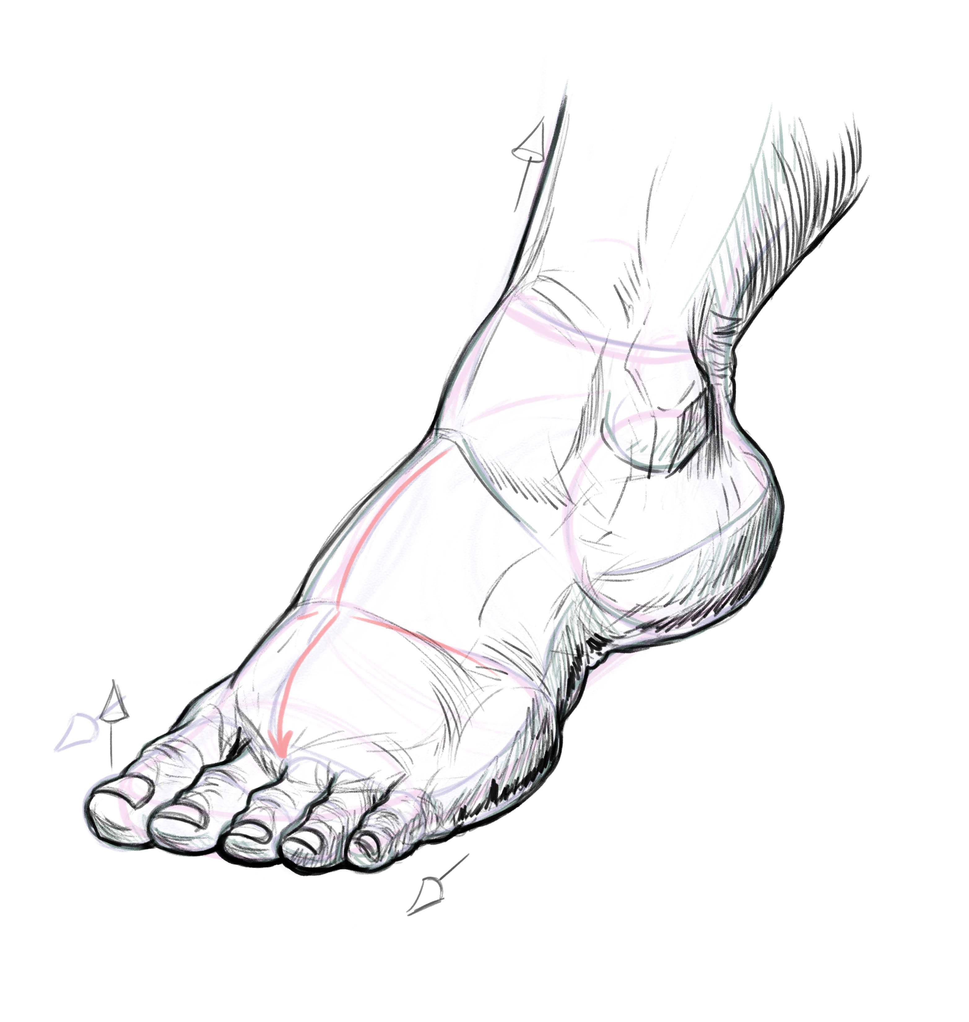 This is a graphic of Decisive Drawing On Feet
