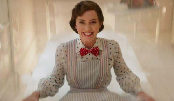 Emily Blunt jumping in bathtub in Mary Poppins Returns