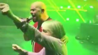 A grandma joins Five Finger Death Punch on stage