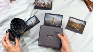 Smartphone printer, camera and assorted prints