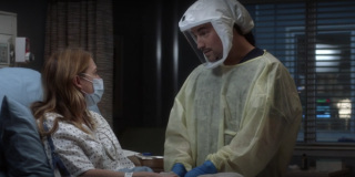Grey's Anatomy Meredith Grey and Andrew DeLuca COVID