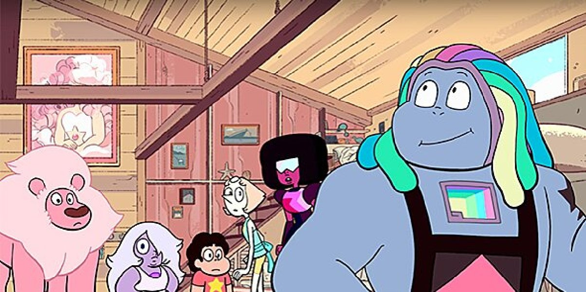 Uzo Aduba's character, Bismuth, in Steven Universe.