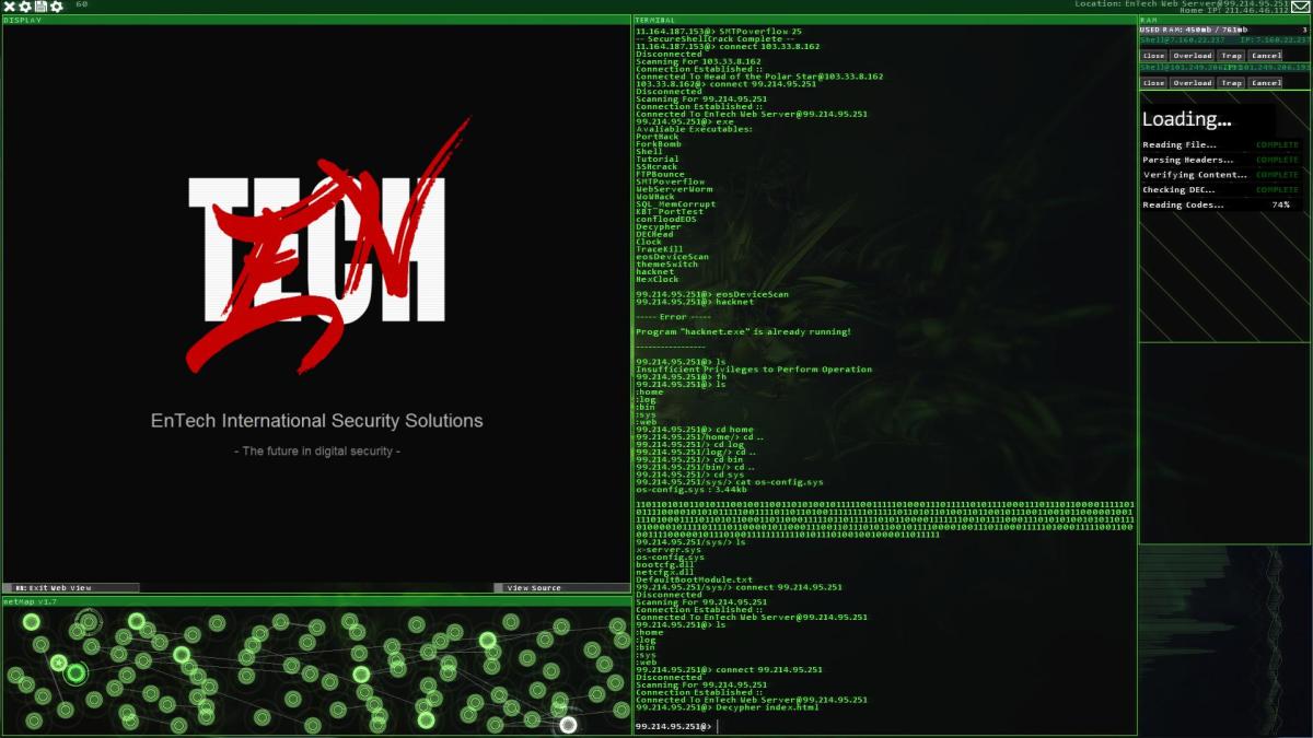 Computer Hacker Game