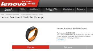 Lenovo reveals first activity tracker