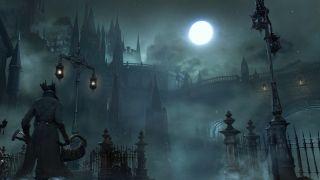 games, Sony, FromSoftware, Bloodborne, Goth, Gothic, Moon, Brrr