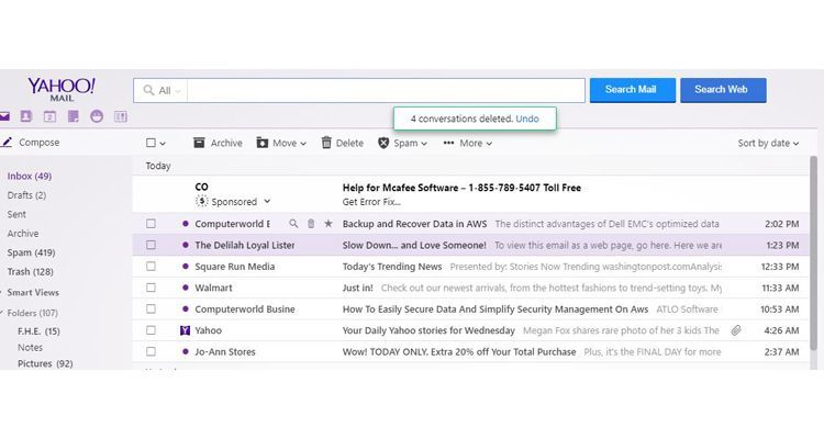 Yahoo Mail Review - Pros, Cons and Verdict | Top Ten Reviews