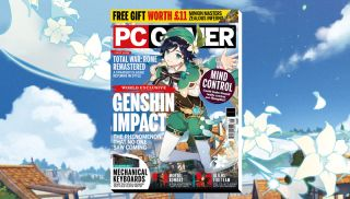 PC Gamer magazine featuring two Genshin Impact characters