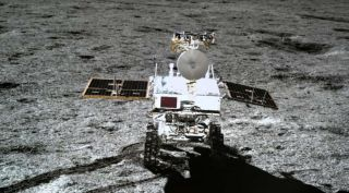 The 140-kilogram Chang'e-4 mission rover Yutu-2.