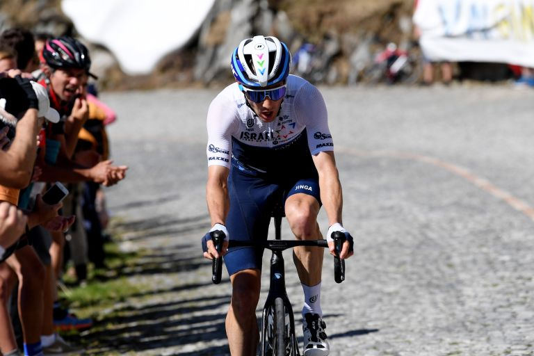 Michael Woods on the final stage of the Tour de Suisse 2021