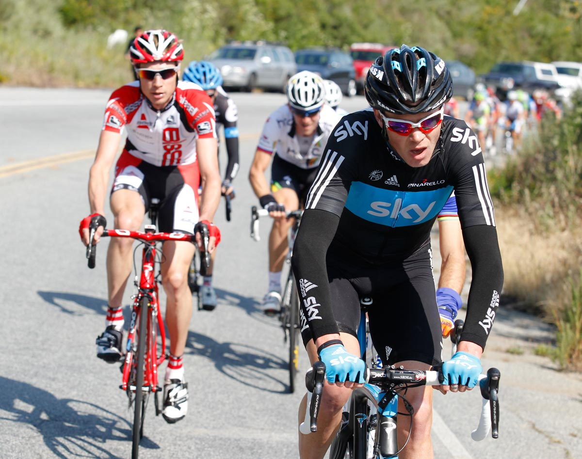 Chris Froome in escape group, Tour of California 2011, stage five