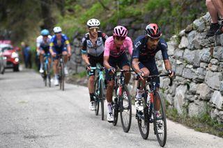 Dani Martinez sets the pace for Giro d'Italia leader Egan Bernal