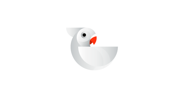 Beautiful geometric animal logos