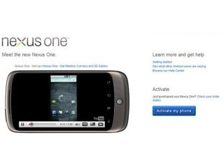 Google's Nexus One page goes up - then down