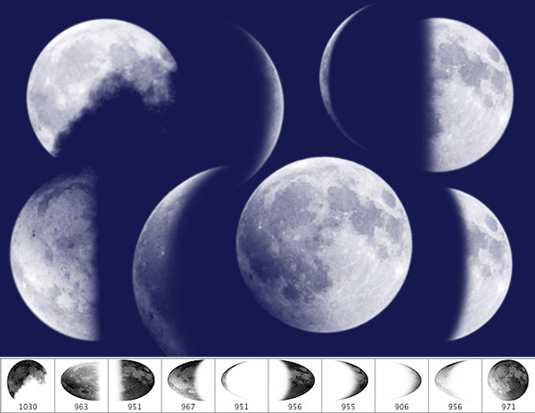 free Photoshop brushes: moon