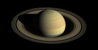 This Cassini image reveals the northern hemisphere of Saturn as it nears its summer solstice.