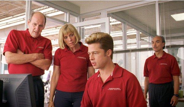 Burn After Reading Richard Jenkins Francis McDormand Brad Pitt gym employees