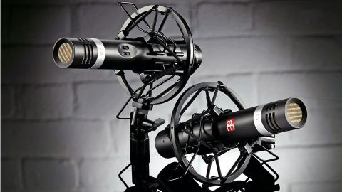 The mics are smartly finished in matt black with a silver band and the red sE logo