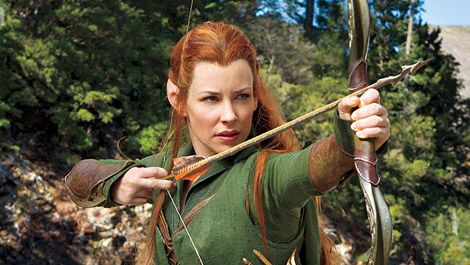 Evangeline Lilly wields a bow in a new image from The Hobbit: The Desolation Of Smaug