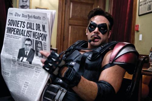 Watchmen - Jeffrey Dean Morgan's The Comedian is a masked vigilante in an alternative America
