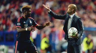 David Alaba and Pep Guardiola