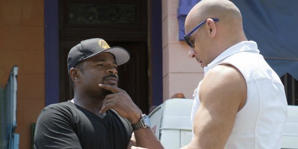 F. Gary Gray talking to Vin Diesel