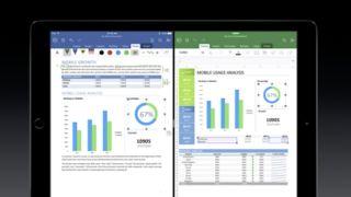 Apple iPad Pro doing multitasking