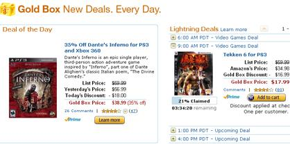 Amazon S Gold Box Is All Ps3 Today Gamesradar