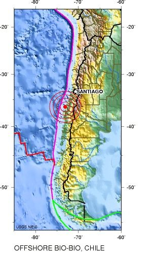 earthquakes, earthquake in chile, January 23 earthquake in chile, natural disasters, earth